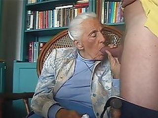 Sucks cock granny Swallow