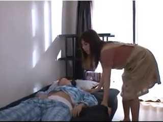 Son mom fucks sleeping He touches