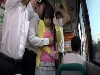 Bus grope japanese Woman Groped
