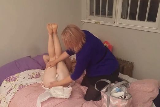 Porno photo adults punished in diapers