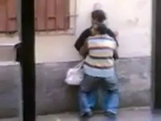 Mature Arab Couple Fucking On The Street Taped By Voyeur From The