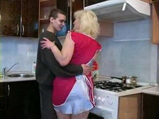 Stepmother Will Have Strange Adventure With Her Teenage Stepson In Kitchen Nonktube Com